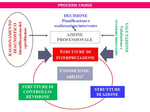 Schema 1: processi chiave nell'esercizio della competenza
